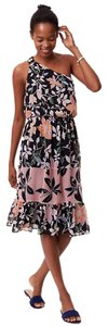 Peach Wave (Multi) Maxi Dress by Ann Taylor LOFT Floral Flounce Chiffon Brunch Wedding Guest