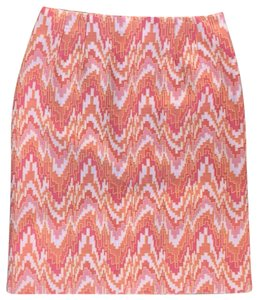 Talbots Skirt pink and orange print