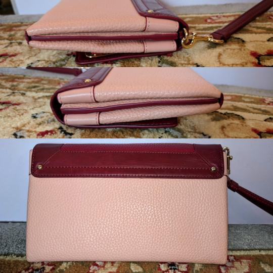 Coach Satchel in Ballet Pink and Maroon Image 2