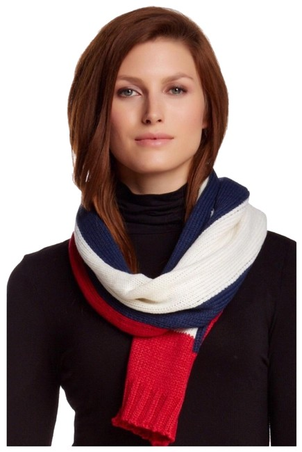 Michael Stars Luxe Long Color Block Knit Scarf/Wrap Michael Stars Luxe Long Color Block Knit Scarf/Wrap Image 1