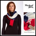 Michael Stars Luxe Long Color Block Knit Scarf/Wrap Michael Stars Luxe Long Color Block Knit Scarf/Wrap Image 3