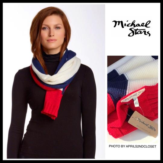 Michael Stars MICHAEL STARS LUXE LONG COLOR BLOCK KNIT SCARF Image 2