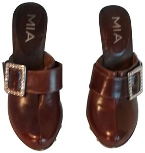 MIA Leather brown Mules