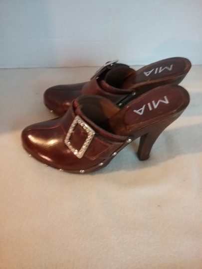 MIA Leather brown Mules Image 2