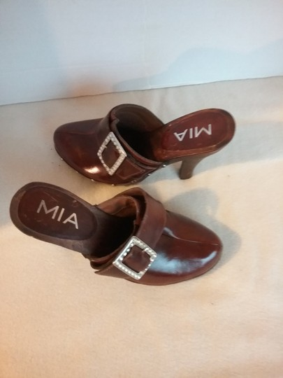 MIA Leather brown Mules Image 6