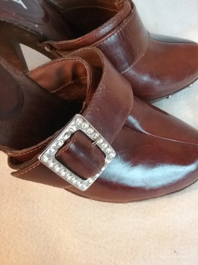 MIA Leather brown Mules Image 7