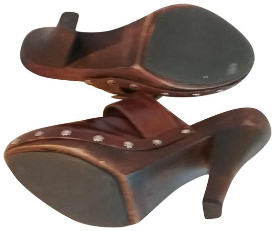 MIA Leather brown Mules Image 8