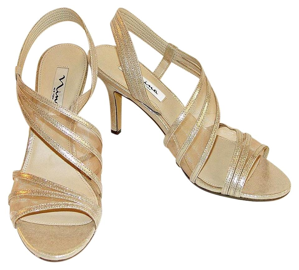 5b1be4c5c2970 Nina Taupe Reflect Vitalia Mesh Inset Asymmetrical Heels Formal Shoes.  Size  US 10 Regular (M ...