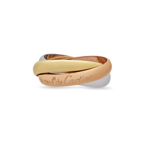 Cartier Cartier 18K White , Yellow , Rose Gold Trinity Ring Size 5.75