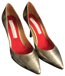 Christian Lacroix Brushed Gold Pumps