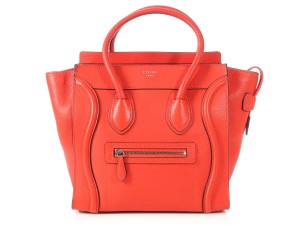 Céline Grained Leather Ce.p0628.04 Silver Hardware Reduced Price Tote in Red
