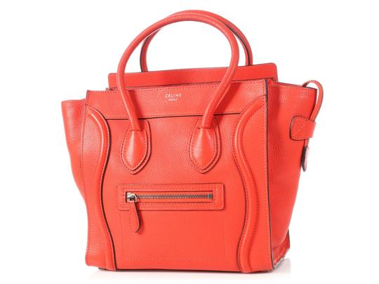 Céline Grained Leather Ce.p0628.04 Silver Hardware Reduced Price Tote in Red Image 1