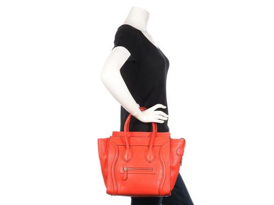 Céline Grained Leather Ce.p0628.04 Silver Hardware Reduced Price Tote in Red Image 10