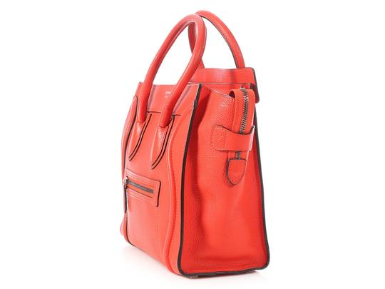 Céline Grained Leather Ce.p0628.04 Silver Hardware Reduced Price Tote in Red Image 2