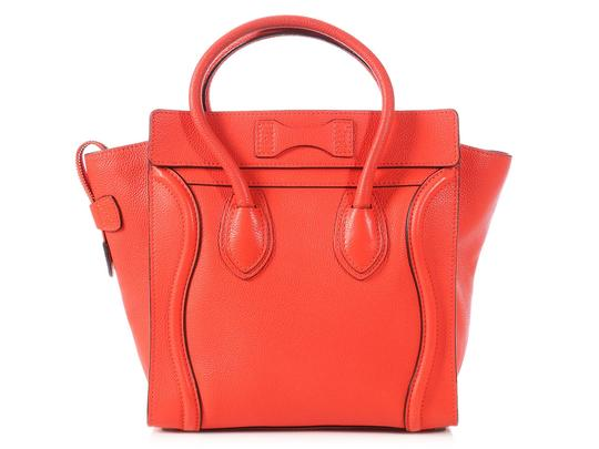 Céline Grained Leather Ce.p0628.04 Silver Hardware Reduced Price Tote in Red Image 3