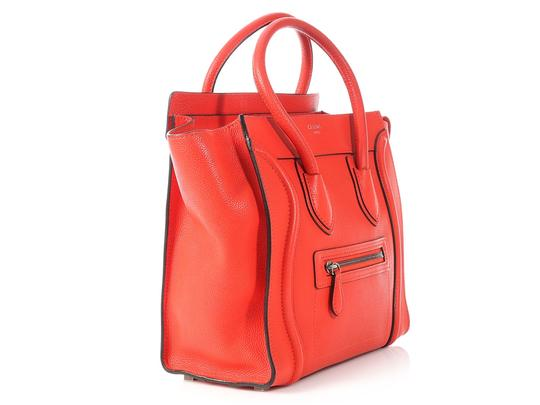 Céline Grained Leather Ce.p0628.04 Silver Hardware Reduced Price Tote in Red Image 4