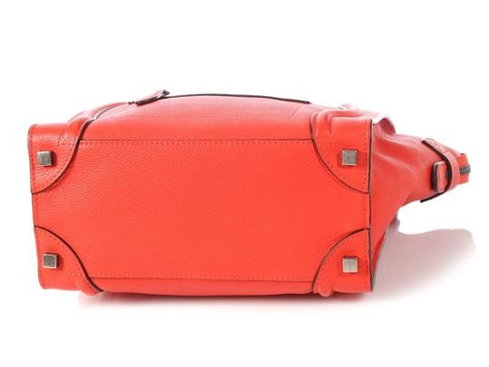 Céline Grained Leather Ce.p0628.04 Silver Hardware Reduced Price Tote in Red Image 5