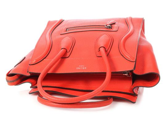 Céline Grained Leather Ce.p0628.04 Silver Hardware Reduced Price Tote in Red Image 6
