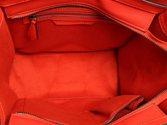 Céline Grained Leather Ce.p0628.04 Silver Hardware Reduced Price Tote in Red Image 7
