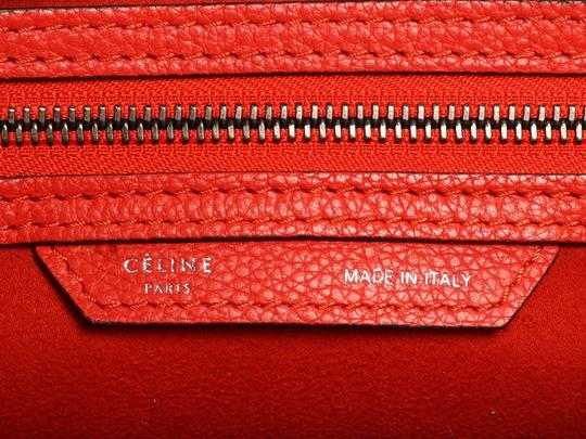 Céline Grained Leather Ce.p0628.04 Silver Hardware Reduced Price Tote in Red Image 8