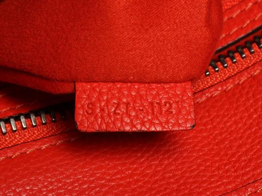 Céline Grained Leather Ce.p0628.04 Silver Hardware Reduced Price Tote in Red Image 9