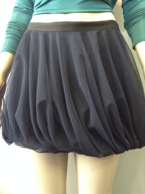 Haute Hippie Mini Skirt Navy Image 4