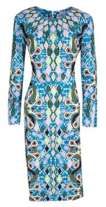Peter Pilotto Print Jersey Fitted Dress