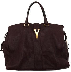 Saint Laurent Satchel in dark purple