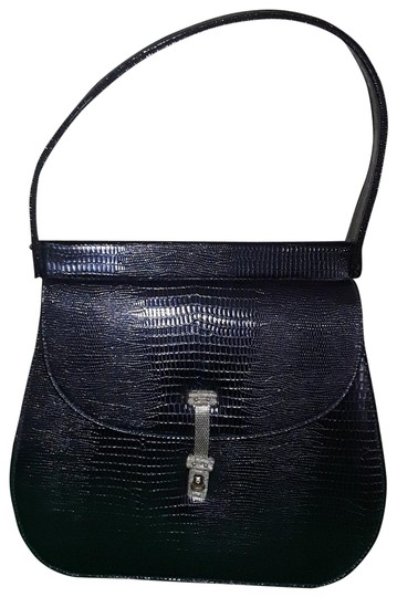 Preload https://img-static.tradesy.com/item/23777389/black-lizard-skin-leather-shoulder-bag-0-2-540-540.jpg