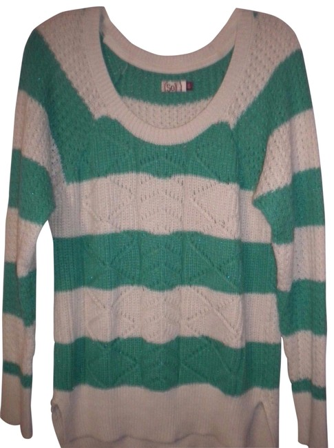 Preload https://img-static.tradesy.com/item/23777424/so-white-green-women-sweaterpullover-size-18-xl-plus-0x-0-1-650-650.jpg