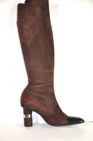 Chanel Brown Boots Image 4