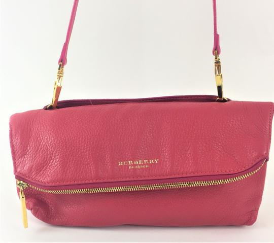 Burberry Prorsum Leather PINK Clutch Image 2