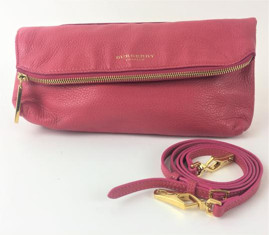 Burberry Prorsum Leather PINK Clutch Image 4