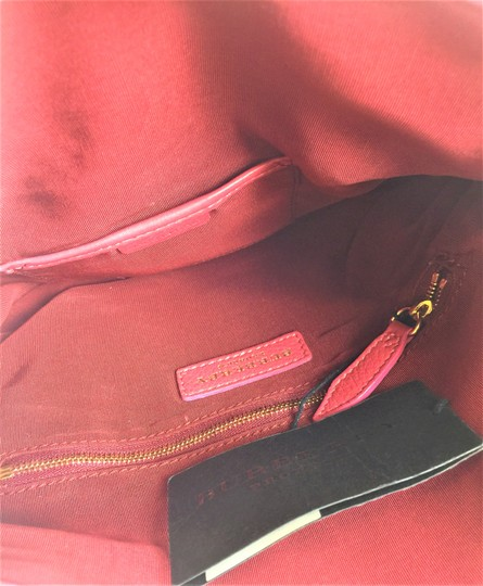 Burberry Prorsum Leather PINK Clutch Image 6