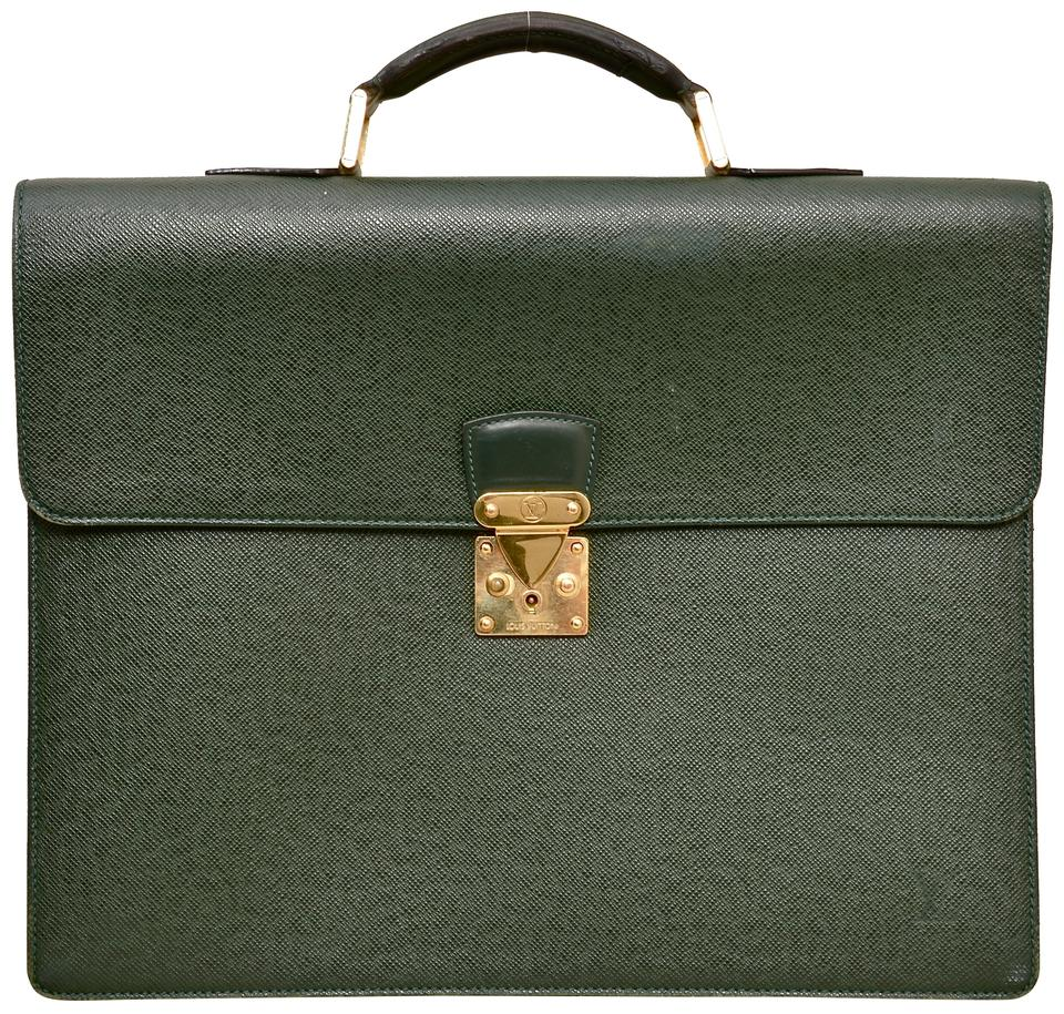 6b3522290ccf Louis Vuitton Briefcase Attache Taiga Leather Carry On Business Laptop Bag  Image 0 ...