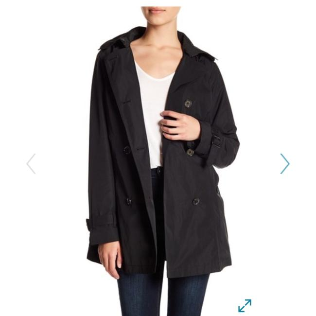 Item - Black Hooded Coat Size 2 (XS)