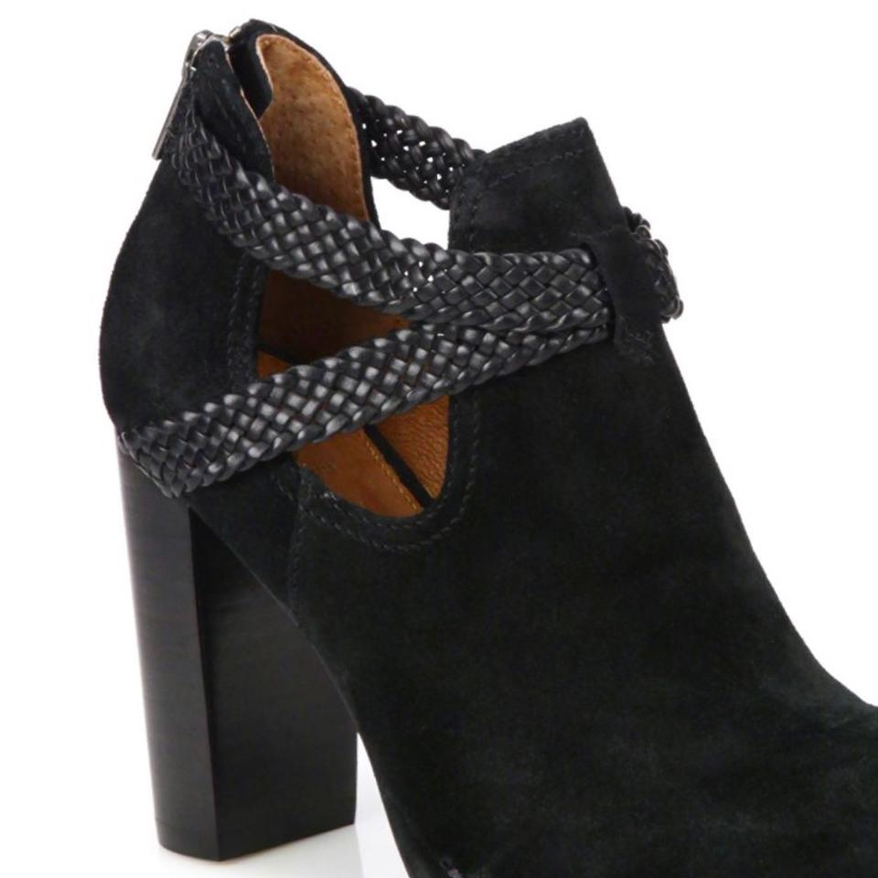 Margaret Booties Black Suede Boots Frye Ankle Braided 7wfH5nUqx4