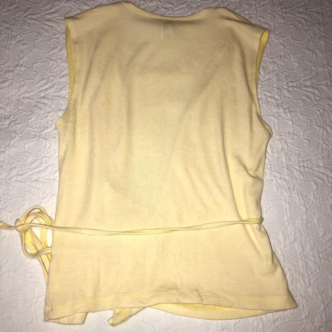 American Apparel V-neck Summer Date Night Spring Knit Top Yellow Image 3