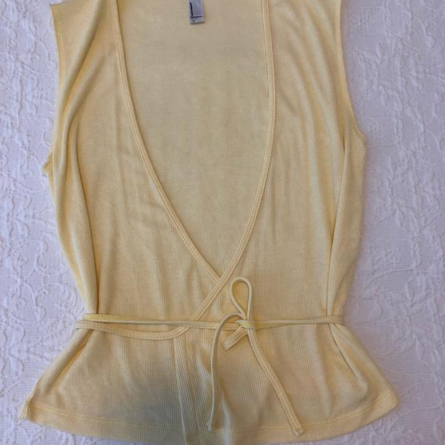 American Apparel V-neck Summer Date Night Spring Knit Top Yellow Image 1