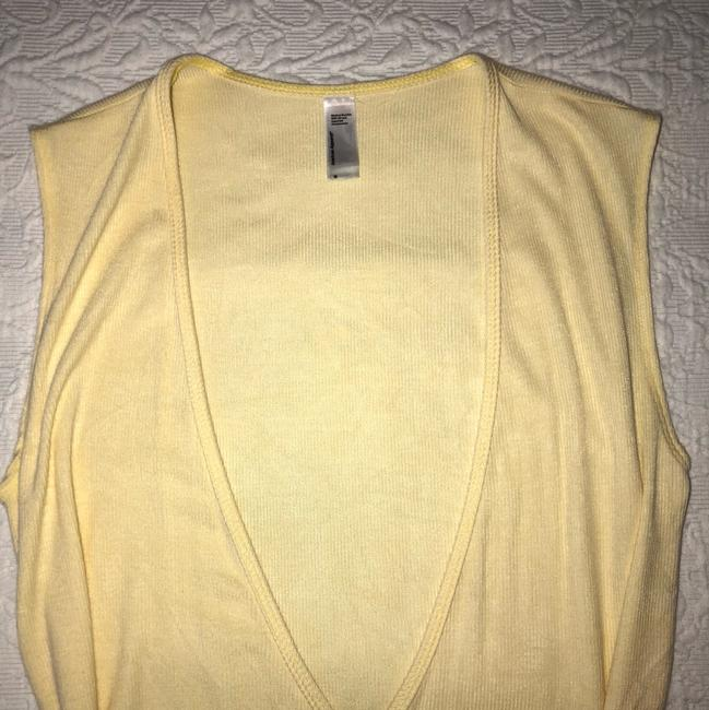 American Apparel V-neck Summer Date Night Spring Knit Top Yellow Image 2
