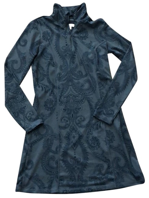 Item - Gray and Blue Athletic Mid-length Short Casual Dress Size 2 (XS)