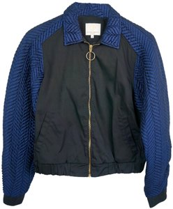 Opening Ceremony Black / Blue Quilted Bomber jacket