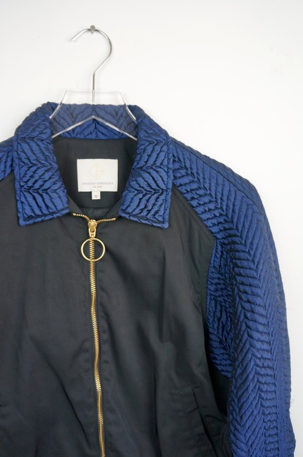 Opening Ceremony Black / Blue Quilted Bomber jacket Image 1