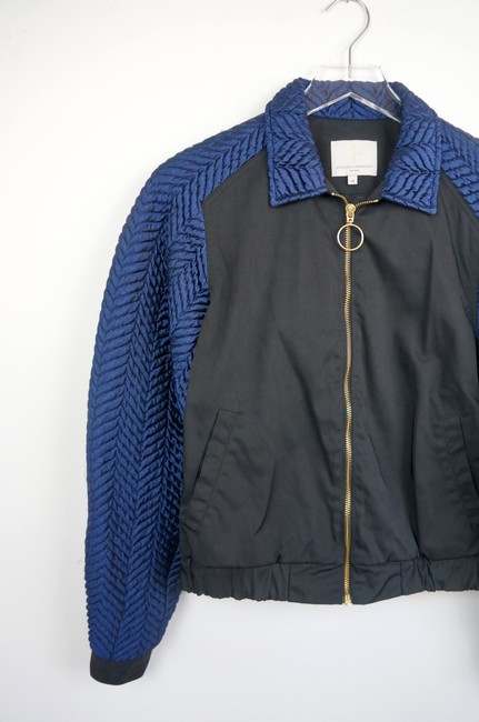 Opening Ceremony Black / Blue Quilted Bomber jacket Image 2