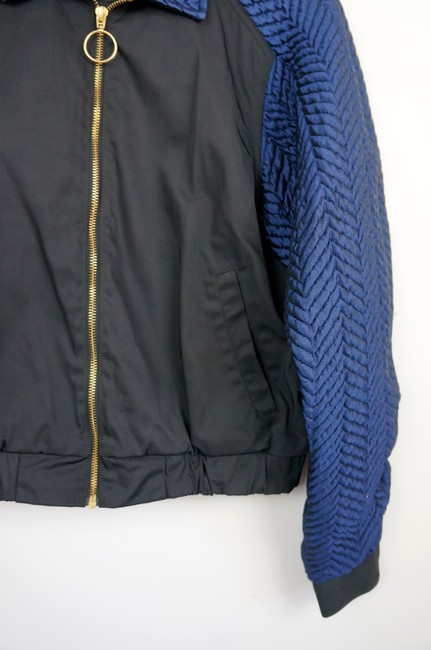 Opening Ceremony Black / Blue Quilted Bomber jacket Image 3