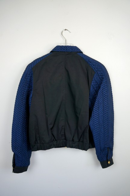 Opening Ceremony Black / Blue Quilted Bomber jacket Image 4