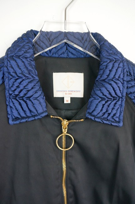 Opening Ceremony Black / Blue Quilted Bomber jacket Image 5
