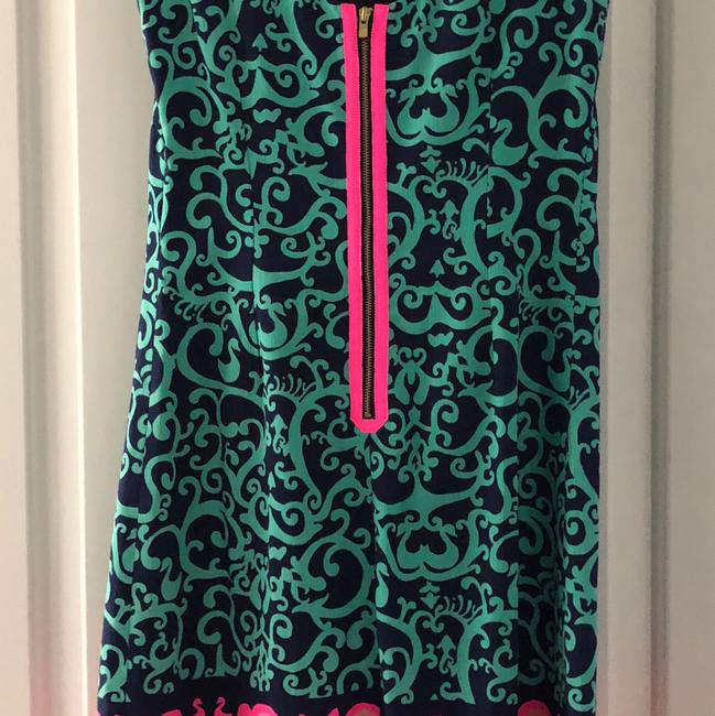 Lilly Pulitzer short dress navy pink green on Tradesy Image 1