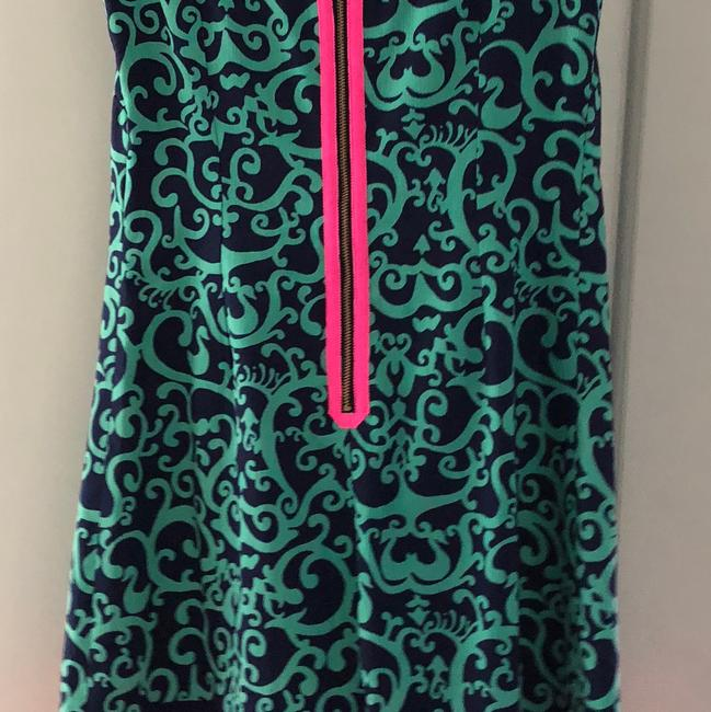 Lilly Pulitzer short dress navy pink green on Tradesy Image 2