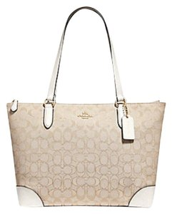 Coach Zip Top City City Tote in chalk